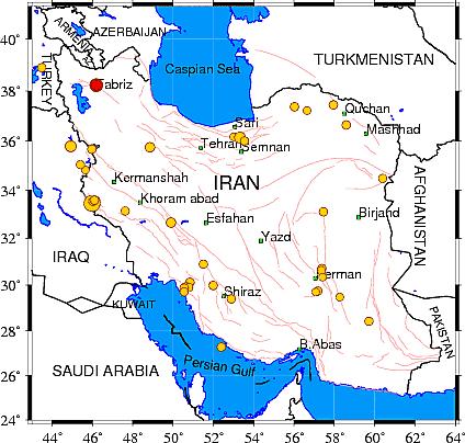 زلزله امروز ایران