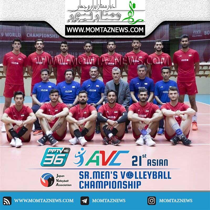 بازی والیبال امروز به همراه نتیجه و ساعت بازی والیبال ایران در آسیا ۲۰۲۱